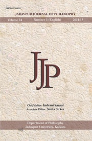 Jadavpur Journal of Philosophy Vol. 24 (no. 1), Indrani Sanyal, Smita Sirker, PHILOSOPHY Books, Vedic Books
