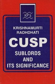 Cusp Sublords & Its Significance, K. Hariharan, JYOTISH Books, Vedic Books