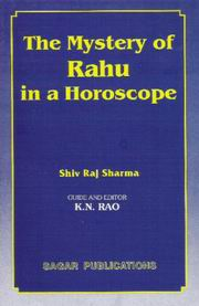 Mystery of Rahu in a Horoscope, Shivraj Sharma, DIVINATION Books, Vedic Books