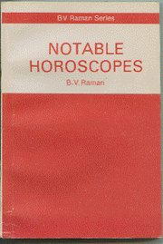 Notable Horoscopes, B.V. Raman, DIVINATION Books, Vedic Books