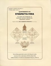 Quintessence Of Sthapatya Veda, Dr. V. Ganapati Sthapati, ARCHITECTURE Books, Vedic Books