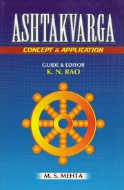 Astakvarga: Concept and application, M.S. Mehta, JYOTISH Books, Vedic Books