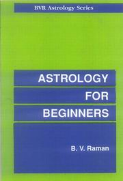 Astrology for Beginners, B.V. Raman, JUST ARRIVED Books, Vedic Books
