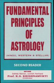 Fundamental Principles of Astrology, Prof K S Krishnamurti, VEDIC ASTRONOMY Books, Vedic Books