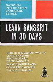 Learn Sanskrit in 30 Days, K Srinivasachari, SANSKRIT Books, Vedic Books