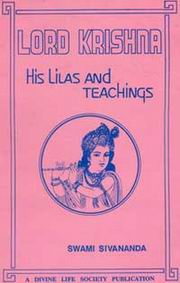Lord Krishna, His Lilas and Teachings, Swami Sivananda, JUST ARRIVED Books, Vedic Books