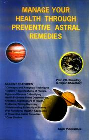 Manage Your Health Through Astral Remedies, V.K. Choudhry, Rajesh Choudhry, JUST ARRIVED Books, Vedic Books