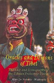 Oracles and Demons of Tibet, Rene De Nebesky-Wojkowitz, ICONOGRAPHY Books, Vedic Books