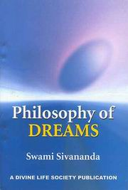 Philosophy of Dreams, Gurudev Swami Sivanandaji Maharaj, SIVANANDA Books, Vedic Books
