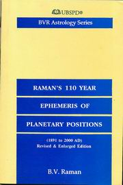 Raman's 110 Year Ephemeris of Planetary Positions, B.V. Raman, JUST ARRIVED Books, Vedic Books