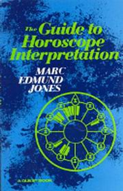 The Guide to Horoscope Interpretation, Marc Edmund Jones, DIVINATION Books, Vedic Books