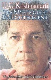The Mystique of Enlightenment, U. G. Krishnamurti, Rodney Arms, MASTERS Books, Vedic Books