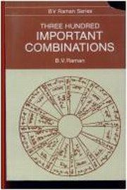 Three Hundred Important Combinations, B.V. Raman, DIVINATION Books, Vedic Books