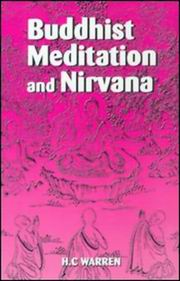 Buddhist Meditation and Nirvana, H.C. Warren, BUDDHISM Books, Vedic Books