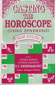 Casting the Horoscope, K.S. Krishnamurti, JYOTISH Books, Vedic Books