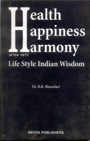 Health Happiness Harmony After Fifty, Dr. D.B. Bhandar, SELF-HELP Books, Vedic Books