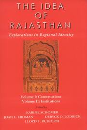 The Idea of Rajasthan (2 Vols.), Karine Schomer, Joan L.Erdman, HISTORY Books, Vedic Books