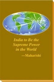 India to be the Supreme power in the world, Maharishi Mahesh Yogi, MASTERS Books, Vedic Books