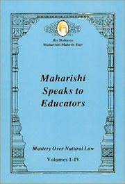 Maharishi Speaks to Educators, Maharishi Mahesh Yogi, MAHARISHI MAHESH YOGI Books, Vedic Books