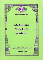 Maharishi Speaks to Students, Maharishi Mahesh Yogi, MAHARISHI MAHESH YOGI Books, Vedic Books