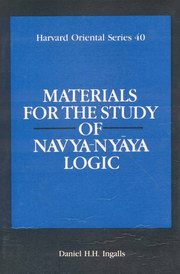 Materials for the Study of Navya Nyaya Logic, D.H.H. Ingalls, JUST ARRIVED Books, Vedic Books