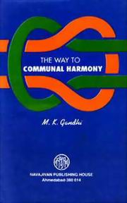 The Way To Communal Harmony, M. K. Gandhi, MASTERS Books, Vedic Books