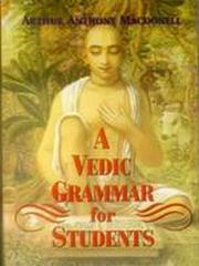 A Vedic Grammer for Students, Arthur Anthony Macdonell, SANSKRIT Books, Vedic Books