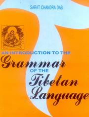An Introduction to the Grammar of the Tibetan Language, Sarat Chandra Das, TIBETAN BUDDHISM Books, Vedic Books