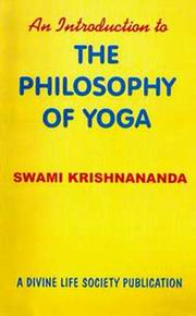 An Introduction to the Philosophy of Yoga, Swami Krishnananda, PHILOSOPHY Books, Vedic Books