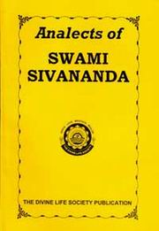 Analects of Swami Sivananda, Swami Sivananda, MASTERS Books, Vedic Books