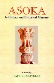 Asoka: In History and Historical Memory, Patrick Olivelle, HISTORY Books, Vedic Books
