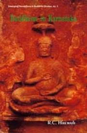 Buddhism in Karnataka, R.C. Hiremath, BUDDHISM Books, Vedic Books