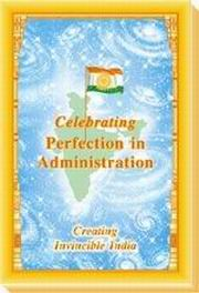 Celebrating Perfection In Administration, Maharishi Mahesh Yogi, MASTERS Books, Vedic Books