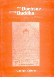 Doctrine of the Buddha, George Grimm, Eds., M. Keller Grimm, Max Hoppe, RELIGIONS Books, Vedic Books