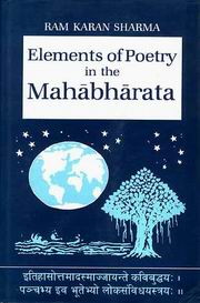 Elements poetry in the Mahabharta, Ram Karan Sharma, POETRY Books, Vedic Books