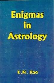 ENIGMAS IN ASTROLOGY, K.N. Rao, DIVINATION Books, Vedic Books
