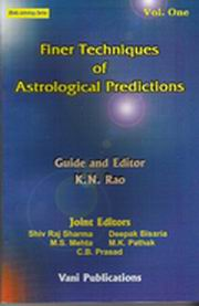Finer Techniques of Astrological Predictions (Vol I & II), K.N.Rao, DIVINATION Books, Vedic Books