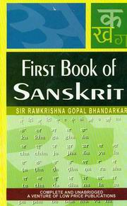 First Book of Sanskrit, R.G. Bhandarkar, SANSKRIT Books, Vedic Books