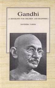 Gandhi: A Biography for Children and Beginners, Ravindra Varma, BIOGRAPHY Books, Vedic Books