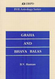 Graha and Bhava Balas, B.V. Raman, JUST ARRIVED Books, Vedic Books