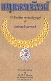 Hatharatnavali of Srinivasayogi by M L  Gharote at Vedic Books