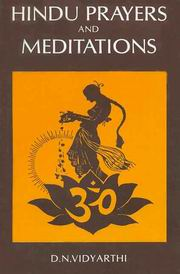 Hindu Prayers and Meditations, D.N. Vidyarthi, RELIGIONS Books, Vedic Books