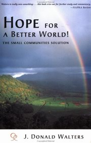 Hope for a Better World, J. Donald Walters, INSPIRATION Books, Vedic Books