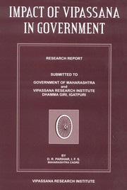Impact of Vipassana in Government, D R Parihar, BUDDHISM Books, Vedic Books