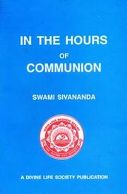 In the Hours of Communion, Swami Sivananda, SIVANANDA Books, Vedic Books