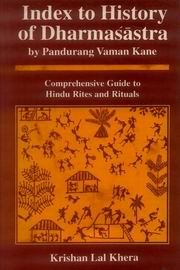 Index to History of Dharmasastra by Pandurang Vaman Kane, Krishan Lal Khera, JUST ARRIVED Books, Vedic Books
