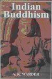 Indian Buddhism, A.K. Warder, BUDDHISM Books, Vedic Books