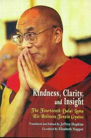 Kindness, Clarity and Insight, Dalai Lama, Jeffrey Hopkins, BUDDHISM Books, Vedic Books