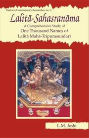 Lalita-Sahasranama-A Comprehensive Study Of One Thousand Names of Lalita Maha-Tripurasundari, L.M. Joshi, JUST ARRIVED Books, Vedic Books