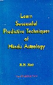 Learn Successful Predictive Techniques of Hindu Astrology, K.N. Rao, JYOTISH Books, Vedic Books
